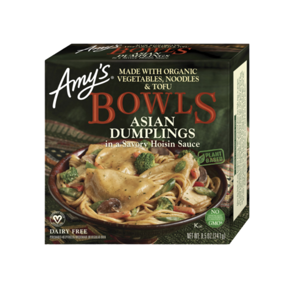 Asian Dumpling Bowl by Amy's comes in a bowl inside of a box